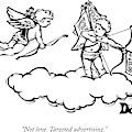 Cupid's Twin Shoots Coupons From Up On A Cloud by Drew Dernavich