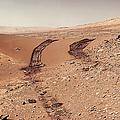 Curiosity Tracks Under The Sun In Mars by Weston Westmoreland