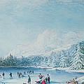 Curling by Bernard Walter Evans