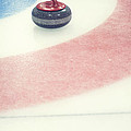 Curling Stone In A Distance by Priska Wettstein