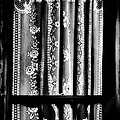 Curtain In Black And White by Newel Hunter