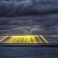 Curtain Sunrise At Orient Beach by John Supan