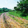 Curved Road Painting by George Fedin and Magomed Magomedagaev
