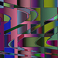 Curves And Trapezoids 3 by Judi Suni Hall