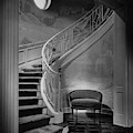 Curving Staircase In The Home Of  W. E. Sheppard by Maynard Parker