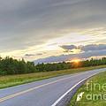 Curvy Road Sunset by Robert Loe