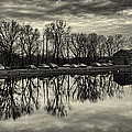 Cushwa Basin C And O Canal Black And White by Joshua House