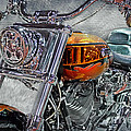 Custom Bike In Orange And Black by Tom Gari Gallery-Three-Photography