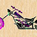 Custom Chopper Motorcycle by Marvin Blaine