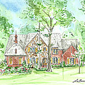 House Portrait Or Rendering Sample by Lizi Beard-Ward