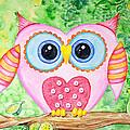 Cute As A Button Owl by Annie Troe