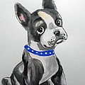 Boston Terrier Wall Art by Rita Drolet
