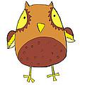Cute Brown Owl by Svetlana Peskin