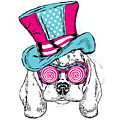 Cute Dog In An Unusual Hat . Vector by Vitaly Grin