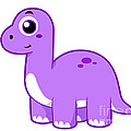 Cute Illustration Of A Brontosaurus by Stocktrek Images