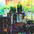 Cutout Art City Optimist by Mary Clanahan