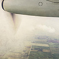 Cutting Through The Fog With Turboprop Over Alberta by Angela Stanton