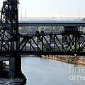 Cuyahoga River Cleveland Flats by Wendy Gertz