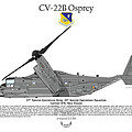 Cv-22b Osprey 20th Sos by Arthur Eggers