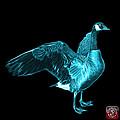 Cyan Canada Goose Pop Art - 7585 - Bb  by James Ahn