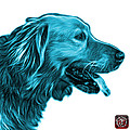 Cyan Golden Retriever - 4047 Fs by James Ahn