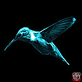 Cyan Hummingbird - 2054 F by James Ahn