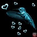 Cyan Hummingbird - 2055 F M by James Ahn