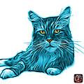Cyan Maine Coon Cat - 3926 - Wb by James Ahn