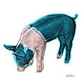 Cyan Piglet - 0878 Fs by James Ahn