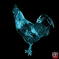 Cyan Rooster 3186 F by James Ahn
