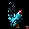 Cyan Rooster Pop Art - 4602 - Bb - James Ahn by James Ahn
