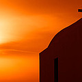 Cyclades Greece - Amorgos Island Church In Sunset by Alexander Voss