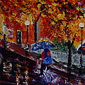 Cycling In The Rain by Valerie Curtiss