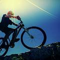 Cyclist On Bike by Wladimir Bulgar