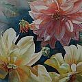 Cynthia's Dahlias by Ruth Kamenev