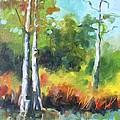 Cypress Trees by Jan Bennicoff