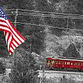 Cyrus K. Holliday Rail Car And Usa Flag Bwsc by James BO  Insogna