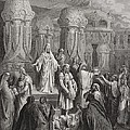 Cyrus Restoring The Vessels Of The Temple by Gustave Dore