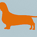Dachshund Orange by Naxart Studio