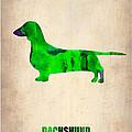 Dachshund Poster 1 by Naxart Studio