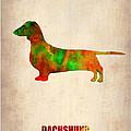 Dachshund Poster 2 by Naxart Studio