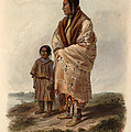 Dacota Woman And Assiniboin Girl by Karl Bodmer
