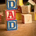 Dad - Alphabet Blocks Fathers Day by Edward Fielding