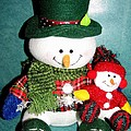 Daddy And Baby Snowmen Decorations by Rose Santuci-Sofranko