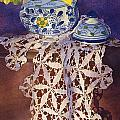 Daffodils And Lace by Kristina Storey
