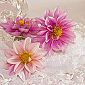Dahlias And Lace by Sandra Foster