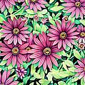 Daisy Flowers by Tish Wynne
