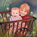 Daisy - Portrait - Girls In Wagon by Jan Dappen
