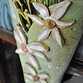 Daisy Wall Door Vase  by Amanda  Sanford