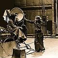 Dakota Homage #1 1945 Cowboy Extras Sound Stage Old Tucson Arizona by David Lee Guss